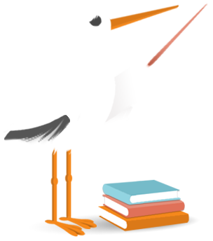 stork with pointer